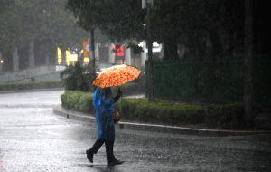 Heavy rainfall lashes Del