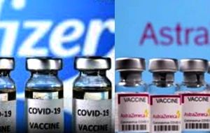 One shot of Pfizer, Astra