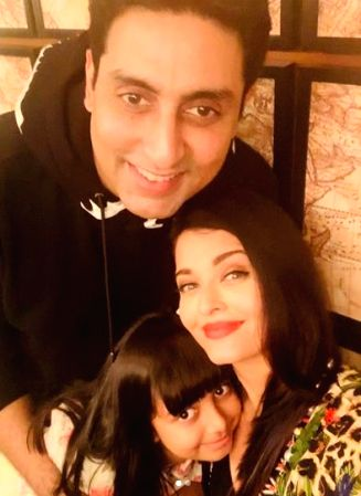 """Actor Abhishek Bachchan turned 44 on Wednesday, and the """"Bunty aur Bubbly"""" actor was showered with love, both by tinsel town crowd and Tweeple. His wife Aishwarya Rai Bachchan shared two pictures of her hubby on social media."""
