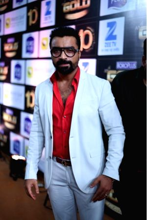 Actor  Ajaz Khan during the 10th Gold Awards 2017 in Mumbai on July 5, 2017.