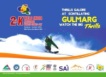 'Khelo India Winter Games' 2nd edition at Gulmarg from Mar 2