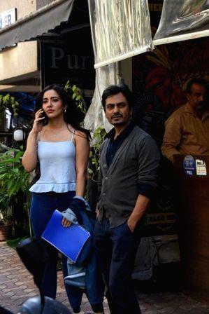 Mumbai: Actors Nawazuddin Siddiqui and Neha Sharma seen at Versova in Mumbai on March 16, 2020.