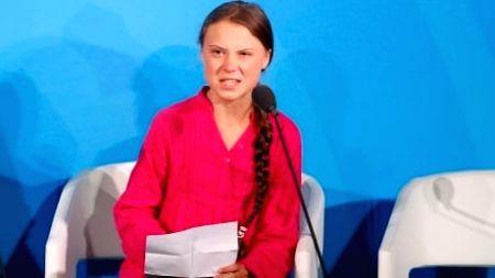 Swedish teenage climate activist Greta Thunberg.