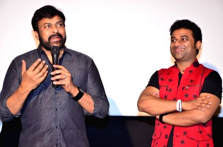 Chiranjeevi during DSP Australia - Newzealand Tour Promo Video Launch