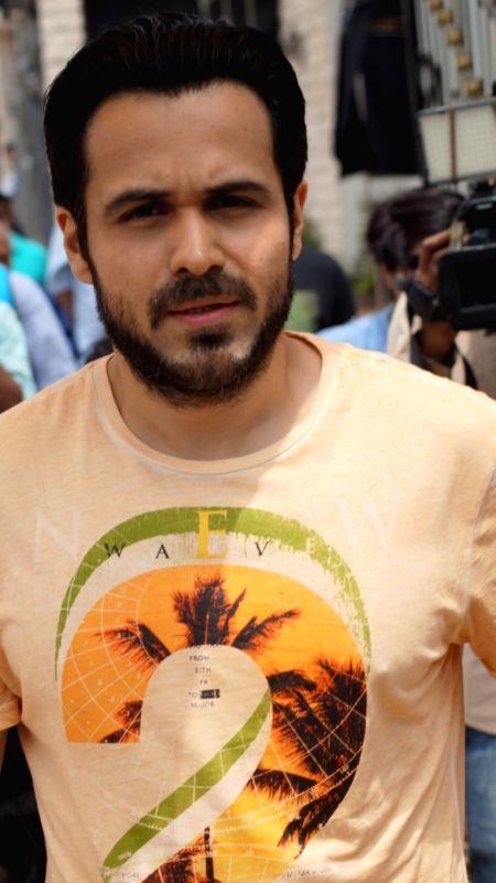 Actor Emraan Hashmi during the promotion of film Azhar on the sets of Bahu Hamari Rajni Kant in Mumbai on May 6, 2016. - Emraan Hashmi