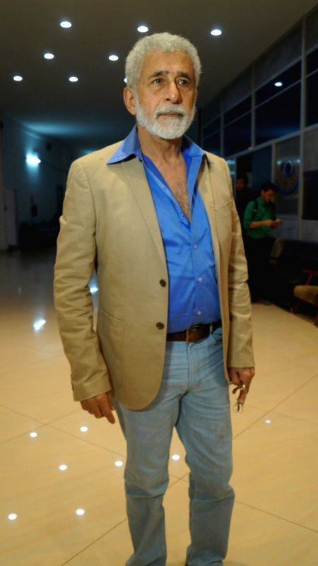 Actor Naseeruddin Shah during the screening of film Waiting in Mumbai on May 5, 2016. - Naseeruddin Shah