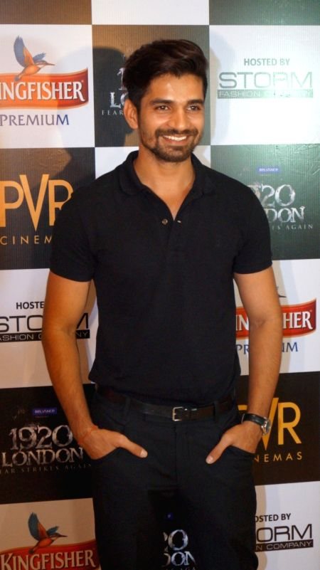 Actor Vishal Singh during the premiere of film 1920 London in Mumbai, on May 6, 2016. - Vishal Singh