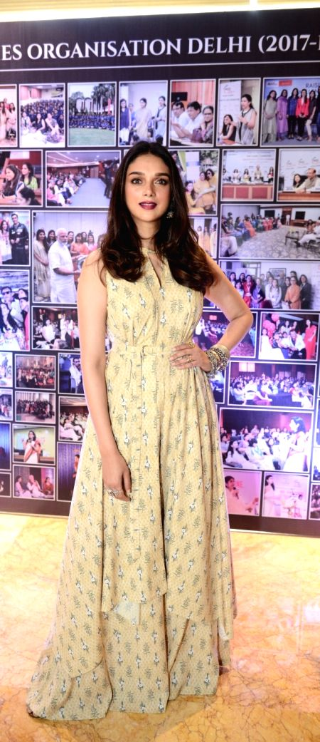 Actress Aditi Rao Hydari during the Young Women Achievers Awards function 2017-18 organised by the FICCI in New Delhi on April 6, 2018. - Aditi Rao Hydari