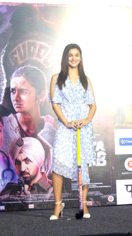 Actress Alia Bhatt during the song launch of Ikk Kudi` from upcoming film Udta Punjab, in Mumbai on May 11, 2016. - Alia Bhatt