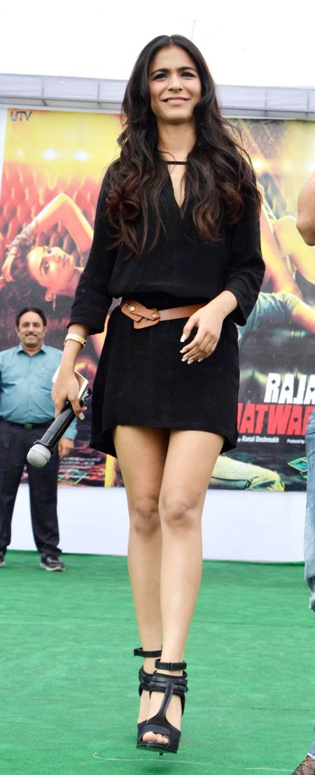 Actress Humaima Malik during a programme organised to promote their upcoming film Raja Natwarlal in Gurgaon on Aug 29, 2014. - Humaima Malik