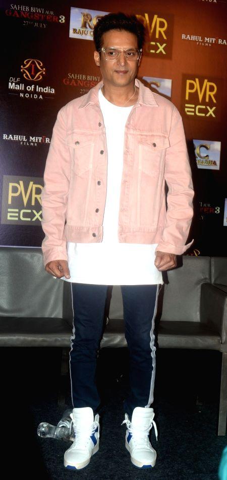 "Actress Jimmy Sheirgillduring the promotion of his upcoming film ""Saheb Biwi Aur Gangster 3"" in Noida on July 25, 2018. - Jimmy Sheirgillduri"
