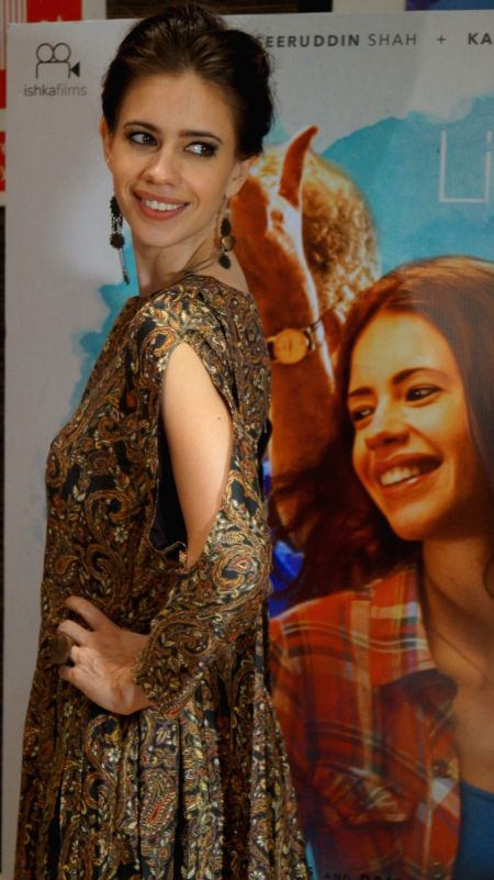 Actress Kalki Koechlin during the screening of film Waiting in Mumbai on May 5, 2016. - Kalki Koechlin