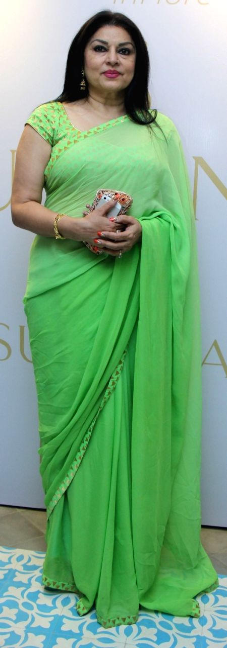 Actress Kiran Joneja Sippy during a show organised by designer Sumona Parekh to showcase her Bridal/Fall Winter 2015 collection in Mumbai on Oct 27, 2015. - Kiran Joneja Sippy