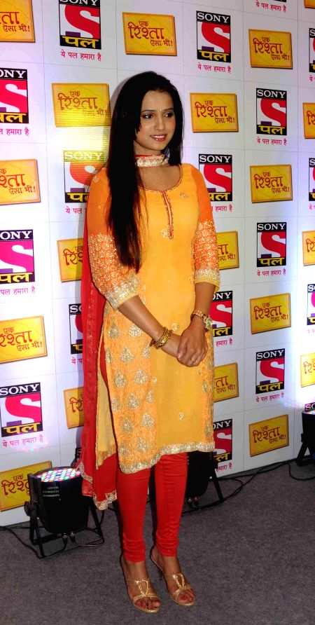 Actress Preeti Choudhary during a programme organised to promote her upcoming TV soap `Ek Rishta Aisa Bhi`in Amritsar on Aug 25, 2014. - Preeti Choudhary