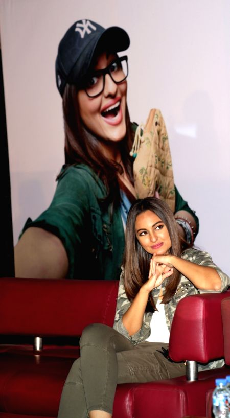 "Actress Sonakshi Sinha during a press conference to promote their upcoming film ""Noor"", in New Delhi, on April 14,2017. - Sonakshi Sinha"