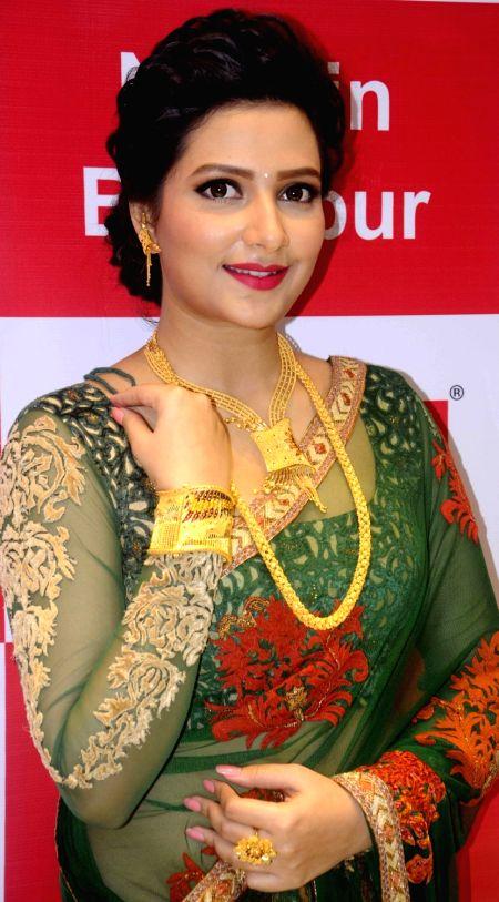 Actress Subhasree Ganguly during a programme in Baruipur, near Kolkata on Nov 1, 2015.