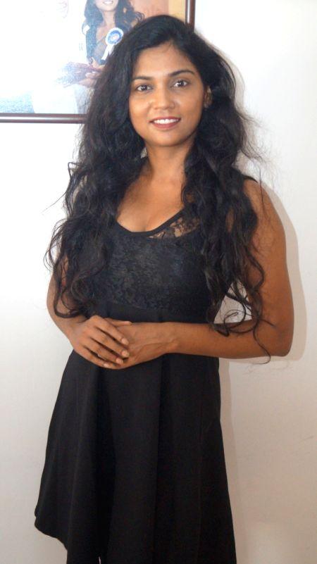 Actress Usha Jadhav during a interview for his upcoming film 'Veerappan' in Mumbai. - Usha Jadhav