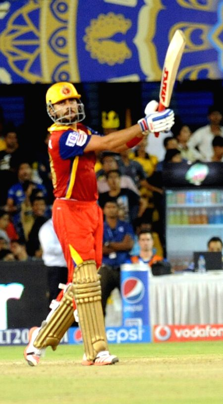 Royal Challengers Bangalore captain Virat Kohli in action during an IPL-2015 match between Royal Challengers Bangalore and Rajasthan Royals at Sardar Patel Stadium, Motera, in Ahmedabad, ... - Virat Kohli and Sardar Patel Stadium