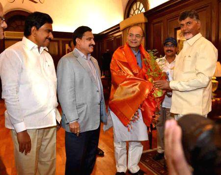 AP CM Chandrababu Naidu meets Arun Jaitley