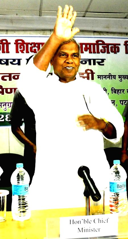 Bihar Chief Minister Jitan Ram Manjhi during a seminar at AN Sinha Institute in Patna on June 28, 2014.