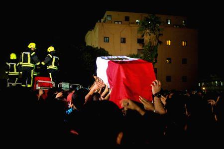 EGYPT-CAIRO-GIZA SHOOTOUT-POLICEMEN-FUNERAL