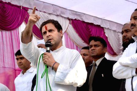 Rahul Gandhi during a rally