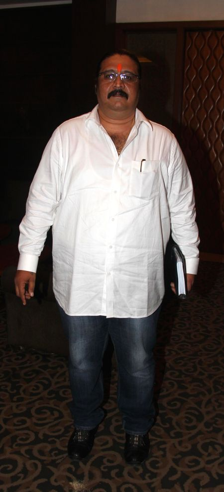 Dilip Pithwa during the press conference for the clarification on the true occurrences in the conflict between the Allied Mazdoor Union Committee and the workers on the Balaji set by The Film & ..
