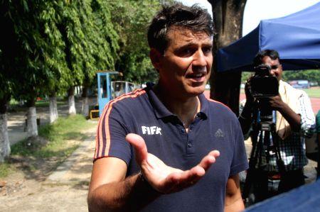Massimo Busacca talks to press