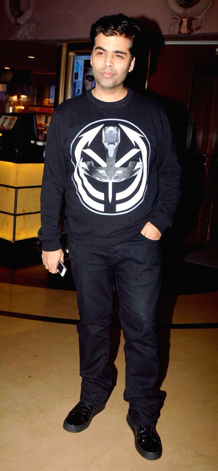 Filmmaker Karan Johar during the special screening of film Humpty Sharma ki Dulhania in Mumbai on July 10, 2014. - Karan Johar