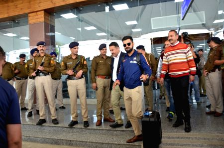 Virat Kohli at Dharamsala Airport