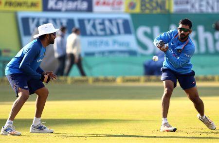 India - practice session - Rohit Sharma, Dinesh Karthik
