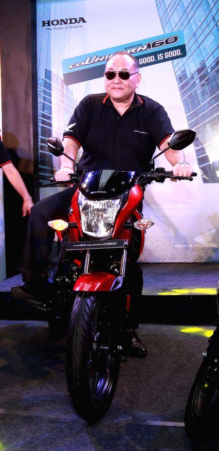 Honda Motorcycle and Scooter India President and CEO Keita Muramatsu at the launch of Honda CB Unicorn 160 in Kolkata on Feb 18, 2015.