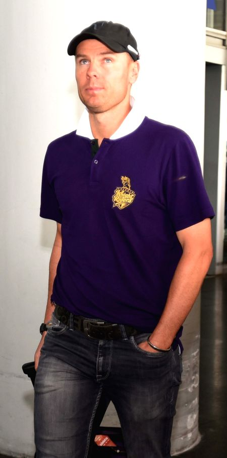 Kolkata Knight Riders player Johan Botha arrives at Netaji Subhas Chandra Bose Airport in Kolkata on May 3, 2015.