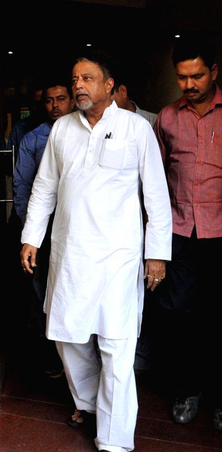Trinamool Congress MP Mukul Roy at Nizam Palace in Kolkata, on March 7, 2015.