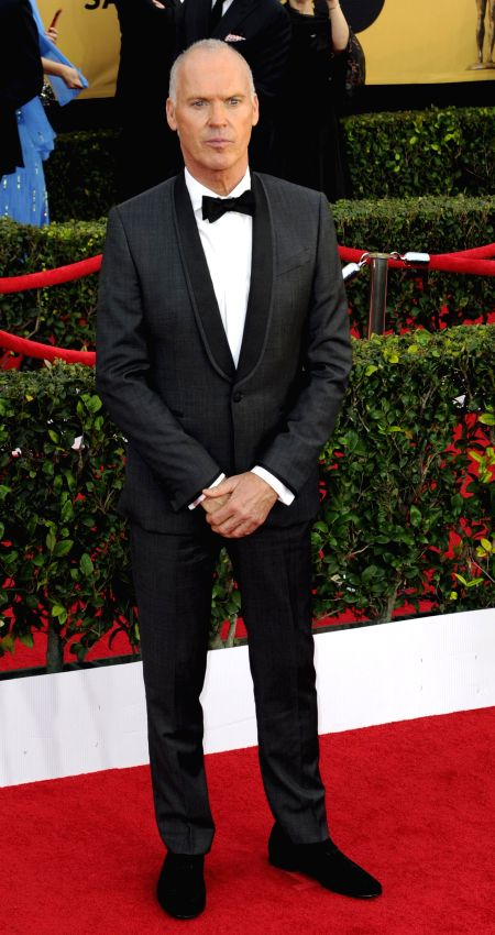 Los Angeles (US): Actor Michael Keaton at the  American Actors Guild Awards held at the Shrine Auditorium in Los Angeles, US on Jan 26, 2015. - Michael Keaton
