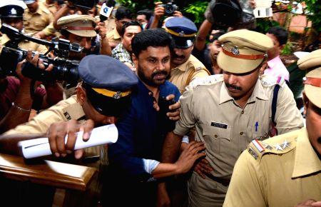 Malayalam actor Dileep being taken to Aluva jail