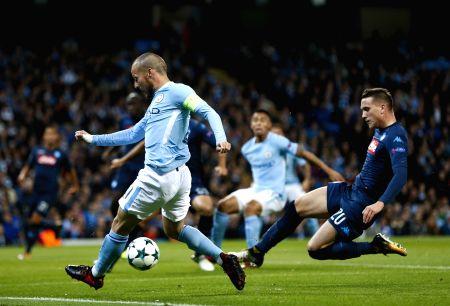 BRITAIN-MANCHESTER-SOCCER-UEFA CHAMPIONS LEAGUE-MANCHESTER CITY VS NAPOLI