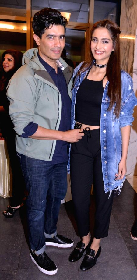 Manish Malhotra and actress Sophia Choudry during the screening of film Dishoom in Mumbai, on July 28, 2016. - Sophia Choudry and Manish Malhotra