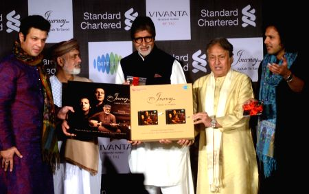 Amitabh Bachchan, Ustad Amzad Ali Khan releasing music album