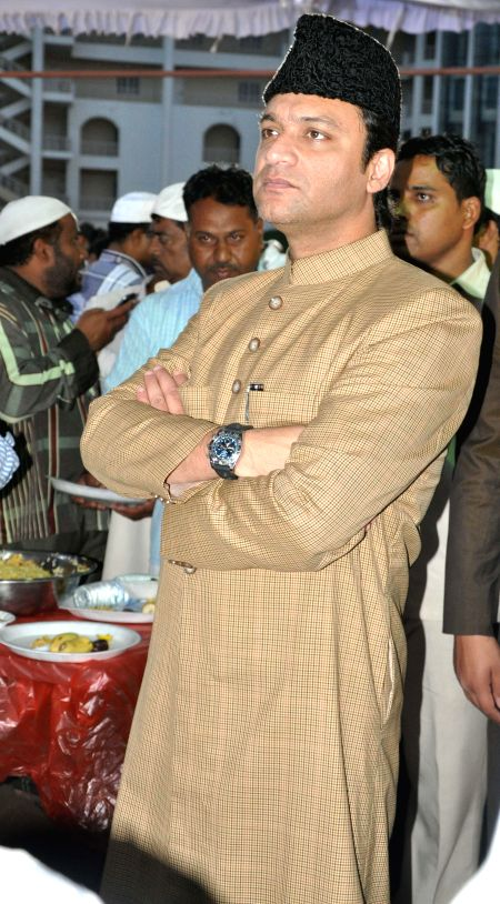 MIM leader Akbaruddin Owaisi during an iftar party in Hyderabad on July 28, 2014.