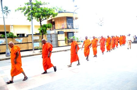 Monks at Chaitya Bhoomi
