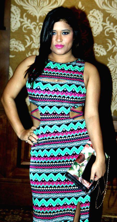 Munira Shaikh during the Mahurat of film Six X in Mumbai, on March, 01, 2015.