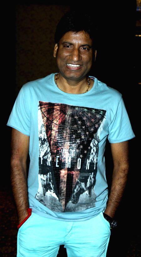 Raju Shrivastava during the Mahurat of film Six X in Mumbai, on March, 01, 2015.