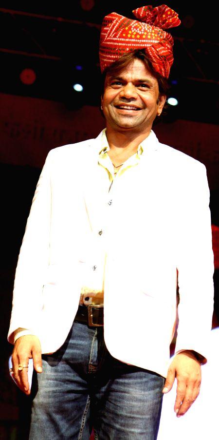 Actor Rajapal Yadav during the Rajasthan Day celebration in Mumbai on March 30, 2015. - Rajapal Yadav