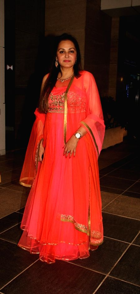 Actress Jaya Prada during the 50th birthday of Sangeethi Seetharaman, in Mumbai, on April 27, 2015. Politician Amar Singh hosted the party for Sangeethi Seetharaman who is the wife of Doha ... - Jaya Prada