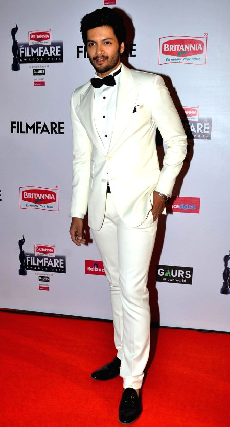 Ali Fazal during the 60th Britannia Filmfare awards in Mumbai, on January 31, 2015.