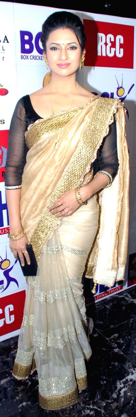 Divyanka Tripathi during the launch of Dress and anthem of BCL team Kolkatta Babu Moshai at Peninsula Grand in Mumbai, on November 20, 2014. - Divyanka Tripathi
