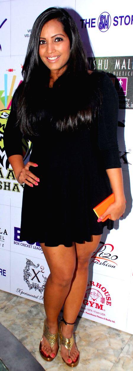 Meghna Naidu during the launch of Dress and anthem of BCL team Kolkatta Babu Moshai at Peninsula Grand in Mumbai, on November 20, 2014. - Meghna Naidu