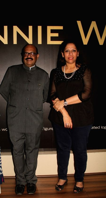 Politician Amar Singh and Dr. Sangeeta Seetharaman during the 50th birthday of Sangeethi Seetharaman, in Mumbai, on April 27, 2015. Politician Amar Singh hosted the party for Sangeethi ...