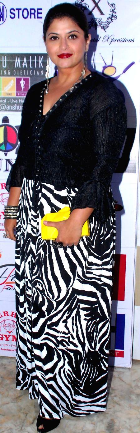 Pragati Mehra during the launch of Dress and anthem of BCL team Kolkatta Babu Moshai at Peninsula Grand in Mumbai, on November 20, 2014.